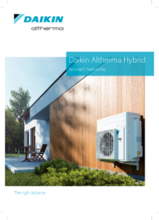 Daikin Altherma hybrid hydrosplit heat pump_Product catalogue_ECPEN19-731_English