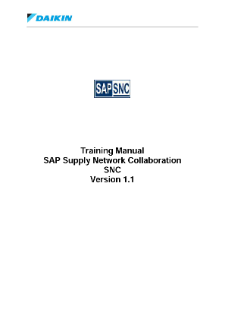 Training Manual SAP SNC v1.1