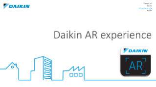 Daikin AR experience - Marker placement